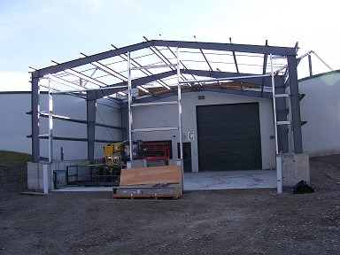 Pile Supported Pre-Engineered Metal Building Kalispell 1