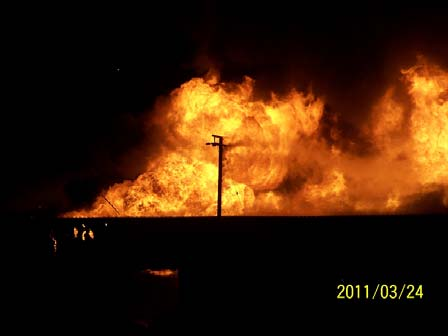 Post Fire Structural Investigation-4 hour Fire Wall-Concrete Fire Wall Adak Alaska Red Shed SOQ 1