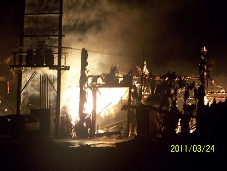 Post Fire Structural Investigation-4 hour Fire Wall-Concrete Fire Wall Adak Alaska Red Shed SOQ 2