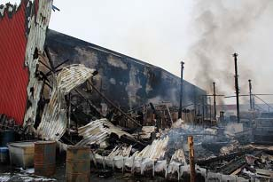 Post Fire Structural Investigation-4 hour Fire Wall-Concrete Fire Wall Adak Alaska Red Shed SOQ 3