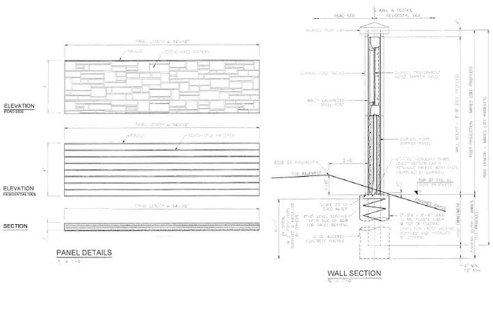 Sound Wall - Noise Barrier - Structural Analysis- Wall Foundation- Retaining Wall- Dillingham 2