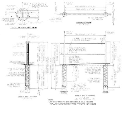 Sound Wall - Noise Barrier - Structural Analysis- Wall Foundation- Retaining Wall- Dillingham 3